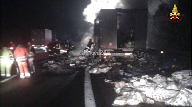 incendio camion masone