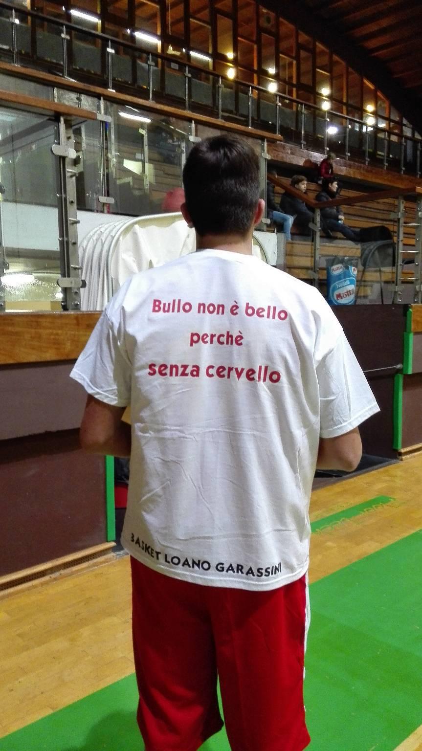 """""""No al bullismo"""": il messaggio dei ragazzi del Loano Basket"""