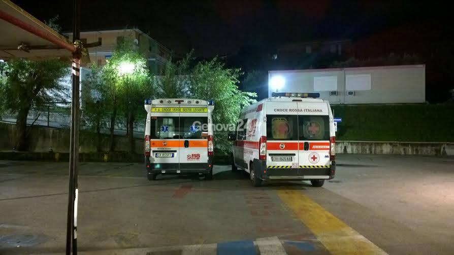 Ambulanze notte al pronto soccorso di Lavagna