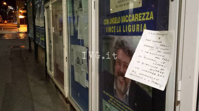 Loano Manifesto Polemico Ponte San Sebastiano