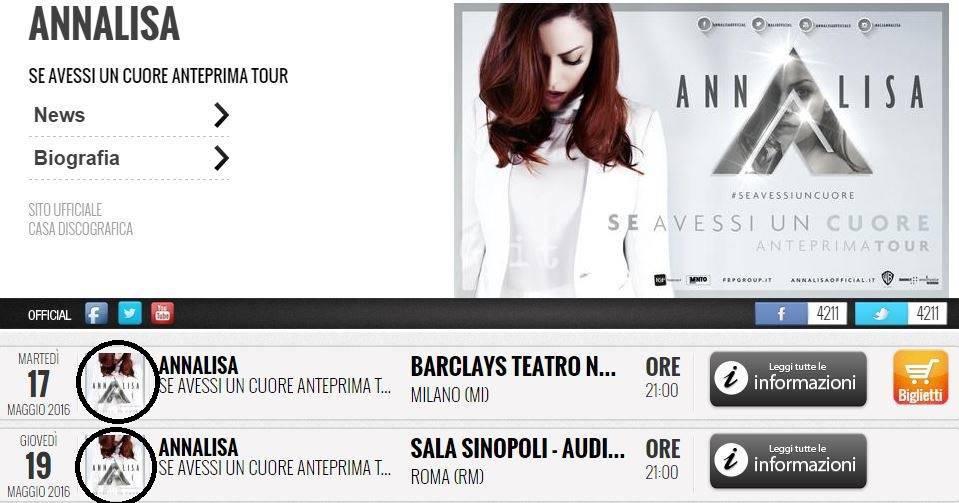 Annalisa tour