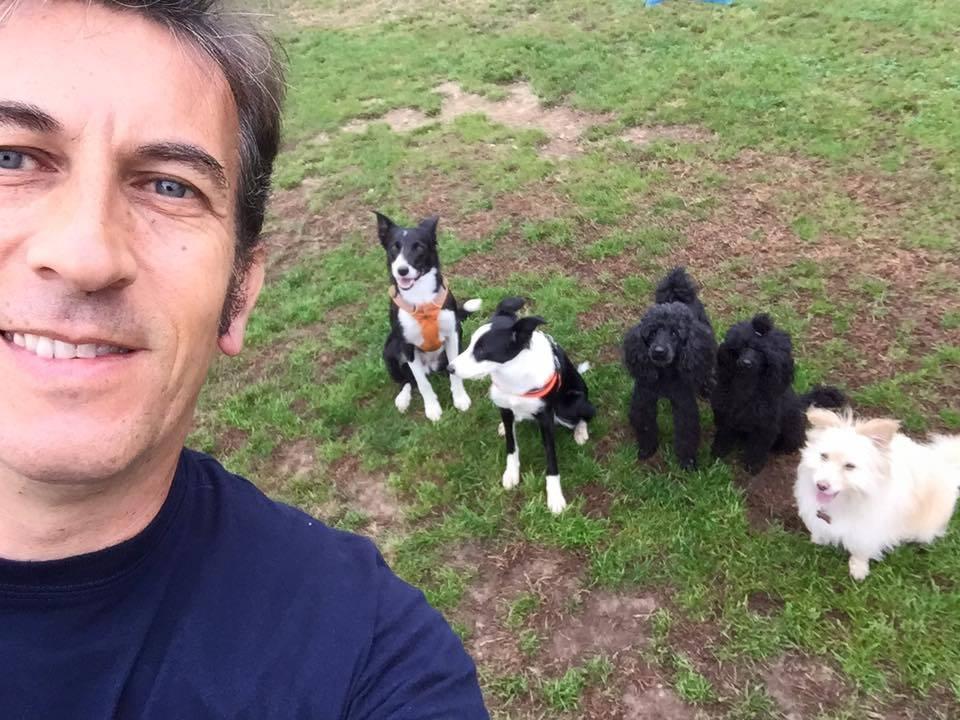 Carlo Fazio e il cane Hindia ai mondiali di agility-dog