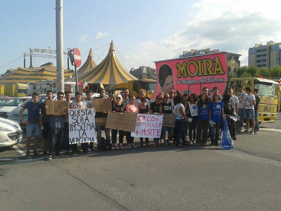 Protesta Circo SAvona
