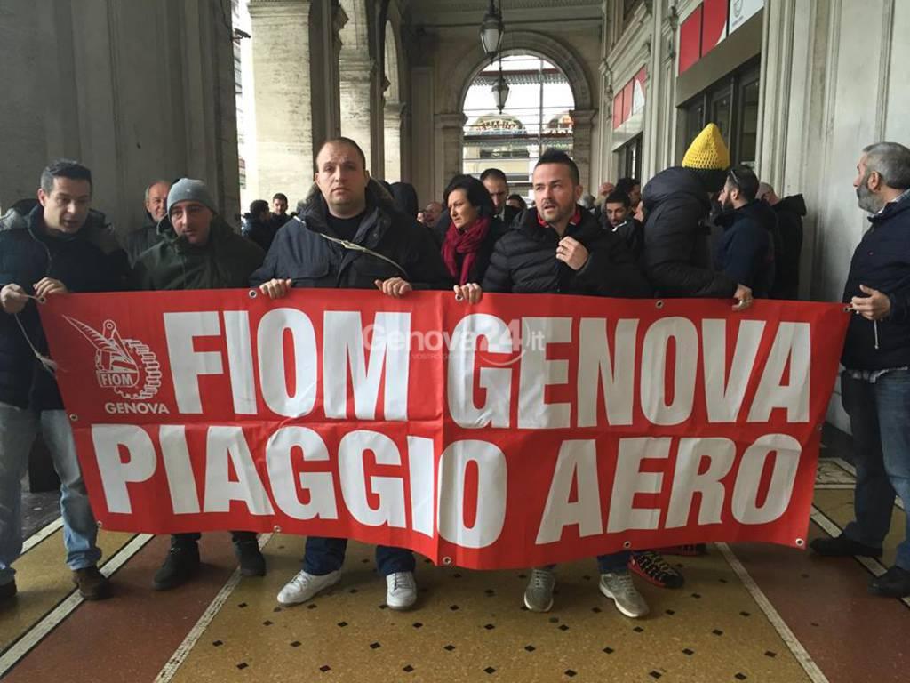 I lavoratori di Piaggio Aerospace