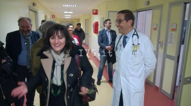 L'assessore regionale Viale in visita all'ospedale di Albenga