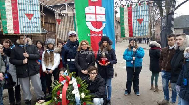 La delegazione regionale e gli studenti liguri ad Auschwitz e Birkenau