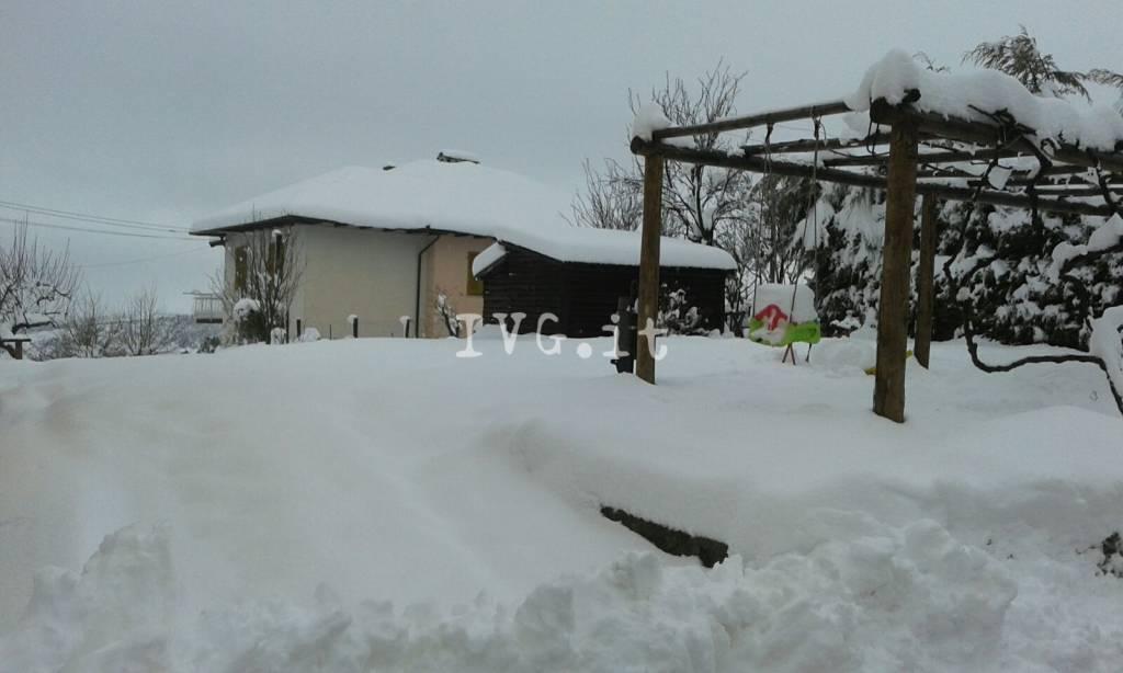 La nevicata a Sassello