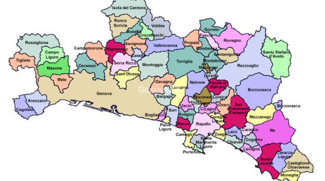 Mappa dei Comuni di Genova