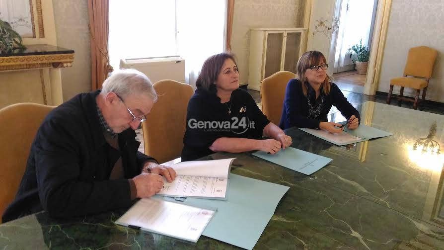 Pierangelo Tassano, il prefetto Spena e il sindaco Ghio