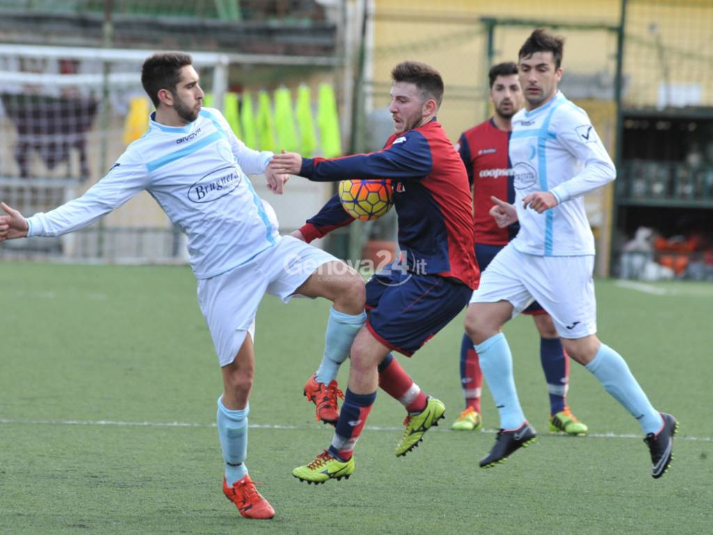 """PROMOZIONE – Girone B - (5^ Ritorno) SAN CIPRIANO / LITTLE CLUB G.MORA 0-0  campo """"Grondona"""" di Genova (Pontedecimo)."""