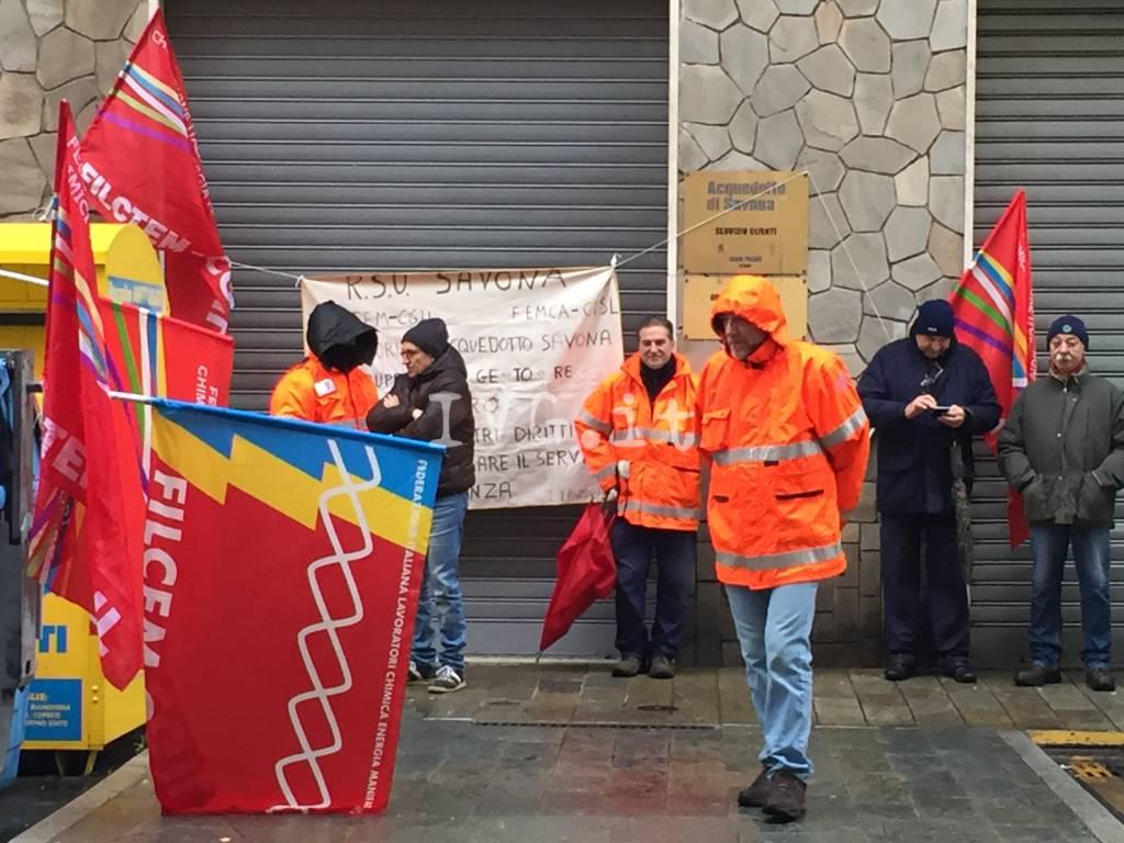 Sciopero Iren, i lavoratori savonesi in presidio