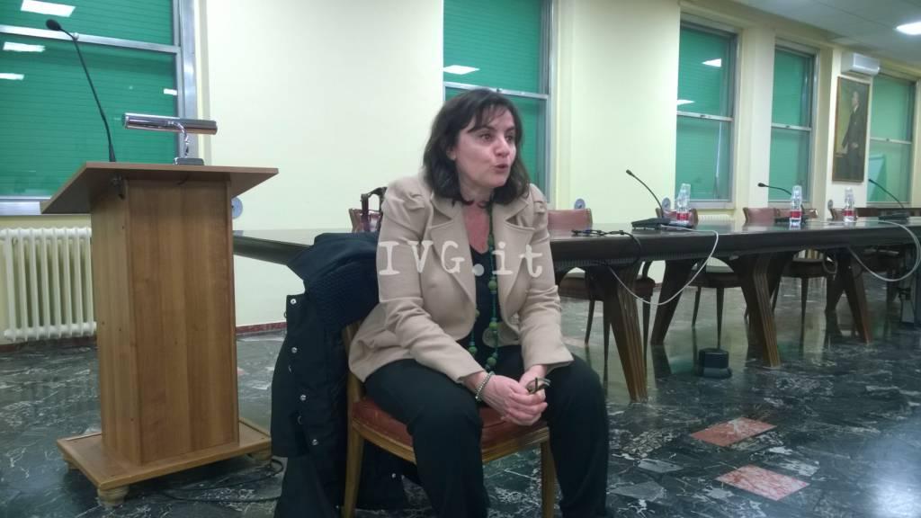 Sonia Viale in visita al Santa Corona di Pietra Ligure