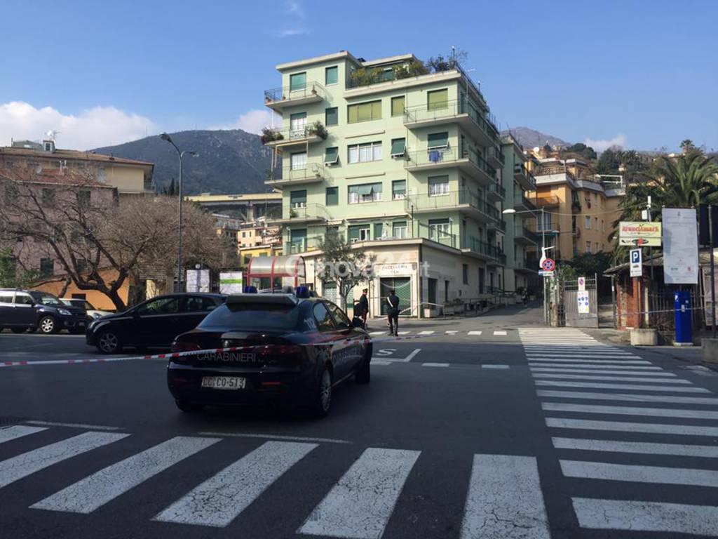 Allarme bomba ad Arenzano (Foto di Paolo Quezzi)