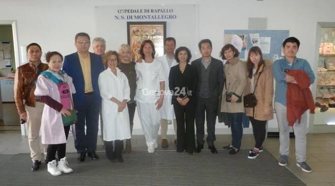 Delegazione cinese in visita all'ospedale di Rapallo