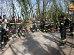 Esercitazione dei vigili del fuoco