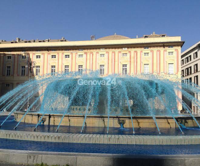 Fontana Di De Ferrari blu