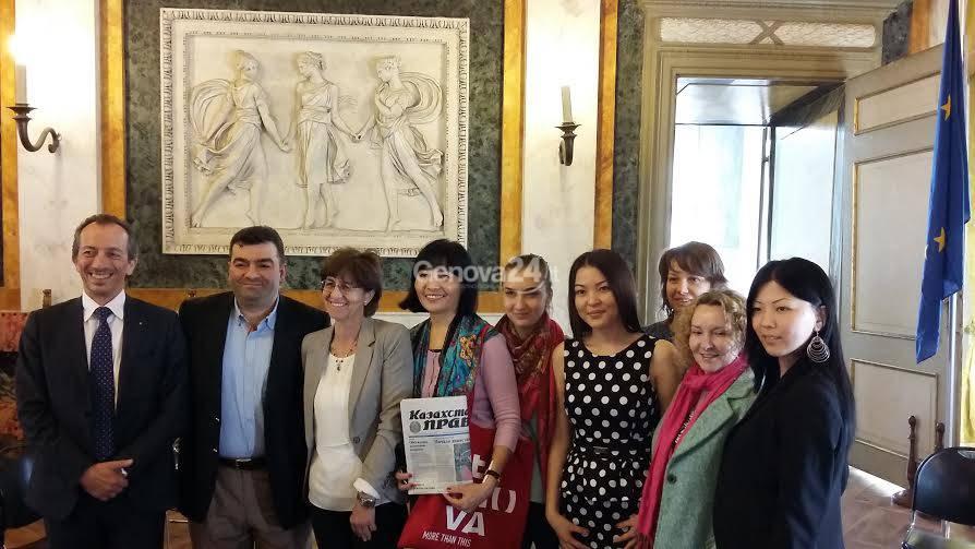 Giornalisti kazaki a Tursi