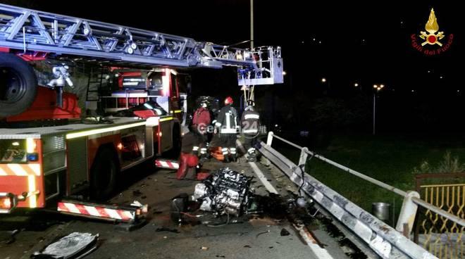 Grave incidente a Carasco