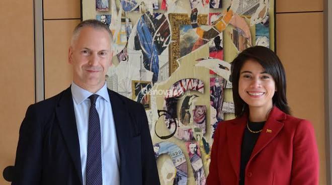 Il sindaco Doria incontra la console dell'Ecuador