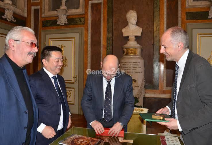 L'ambasciatore della Mongolia a palazzo Tursi
