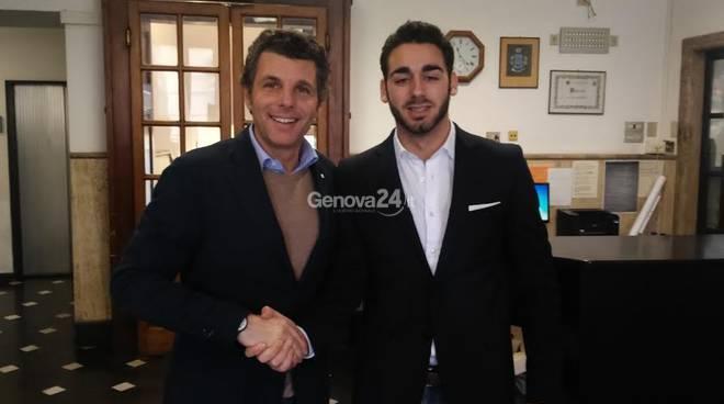 Lorenzo Squadrito con il sindaco Bagnasco