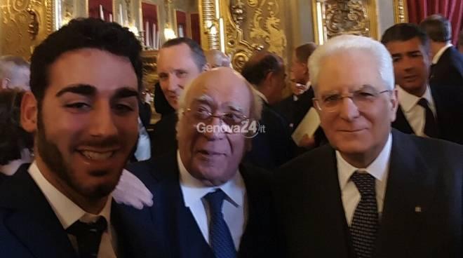 Lorenzo Squadrito con il presidente Mattarella