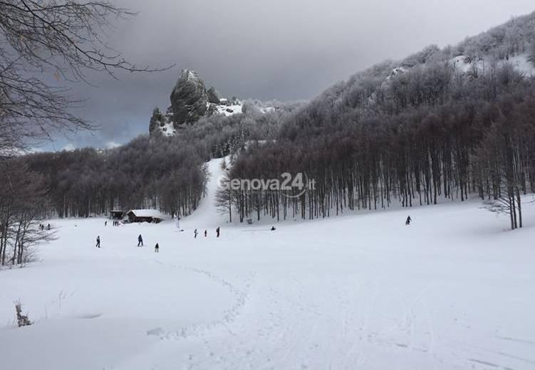 Neve in val d'Aveto e nelle altre valli