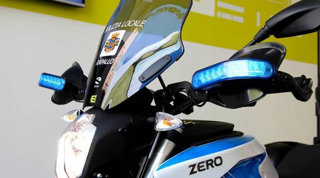 rapallo moto elettrica polizia municipale
