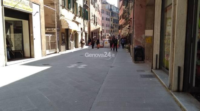Ripavimentazione via Mameli a Rapallo