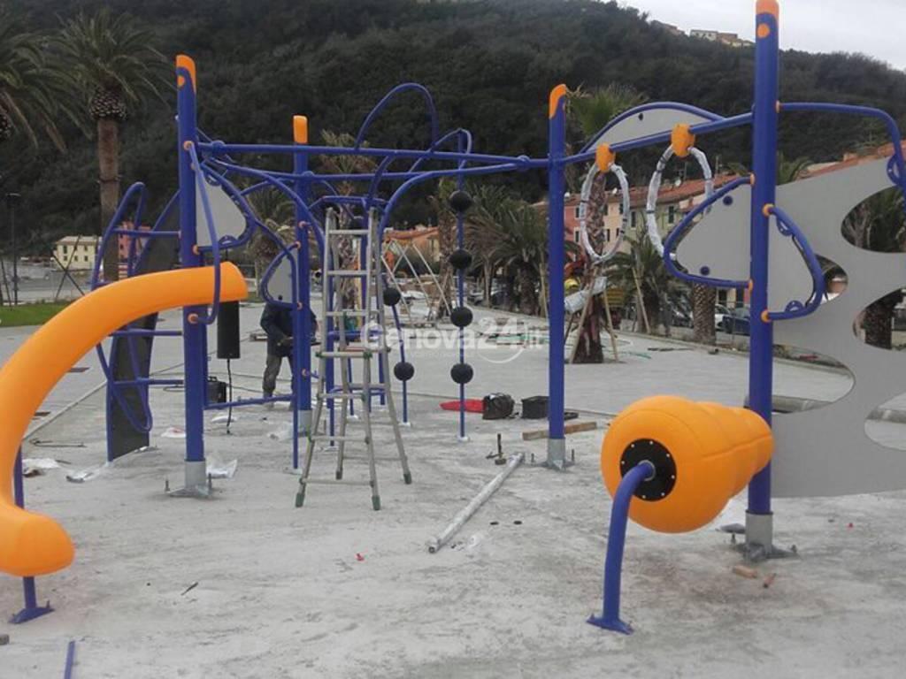 Riva Trigoso, nuovi giochi sulla passeggiata di via Brin
