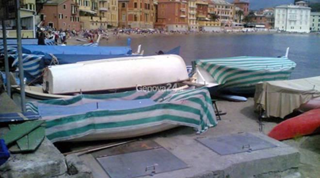 Spiaggia Sestri Levante, stazione di sollevamento di liquami verso il depuratore