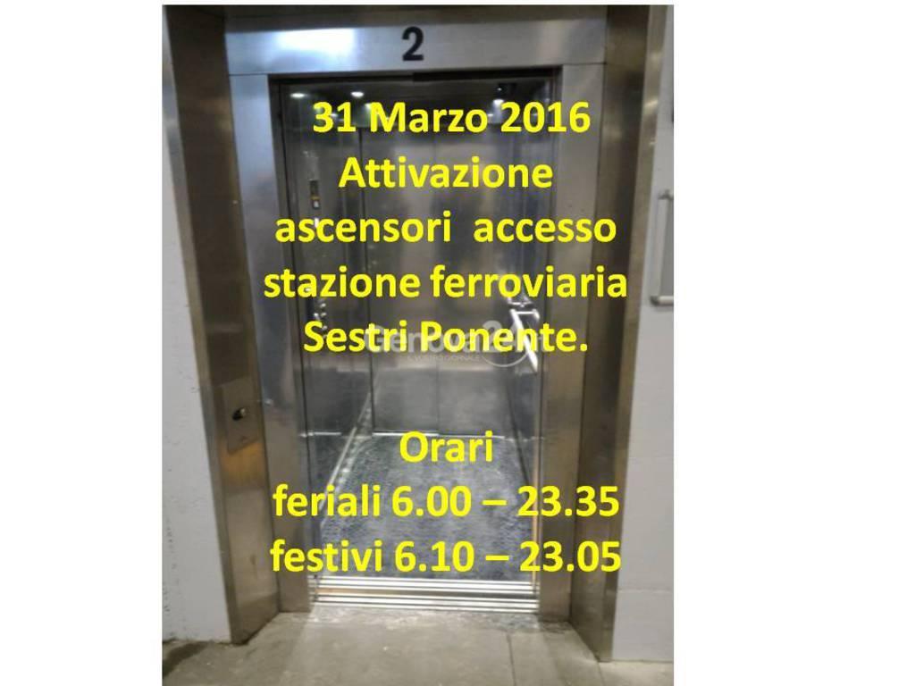stazione sestri ponente ascensori