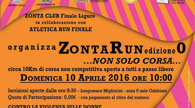 Zonta Run Finale Ligure