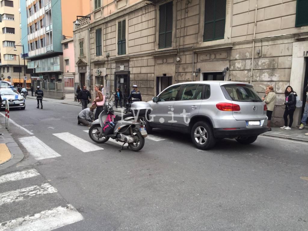 Anziana investita da un'auto in via Piave a Savona