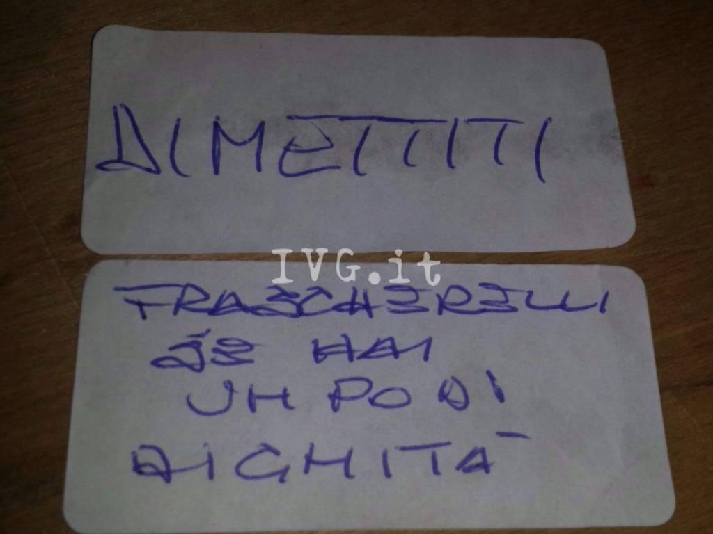 Frascherelli Dimissioni Seggio