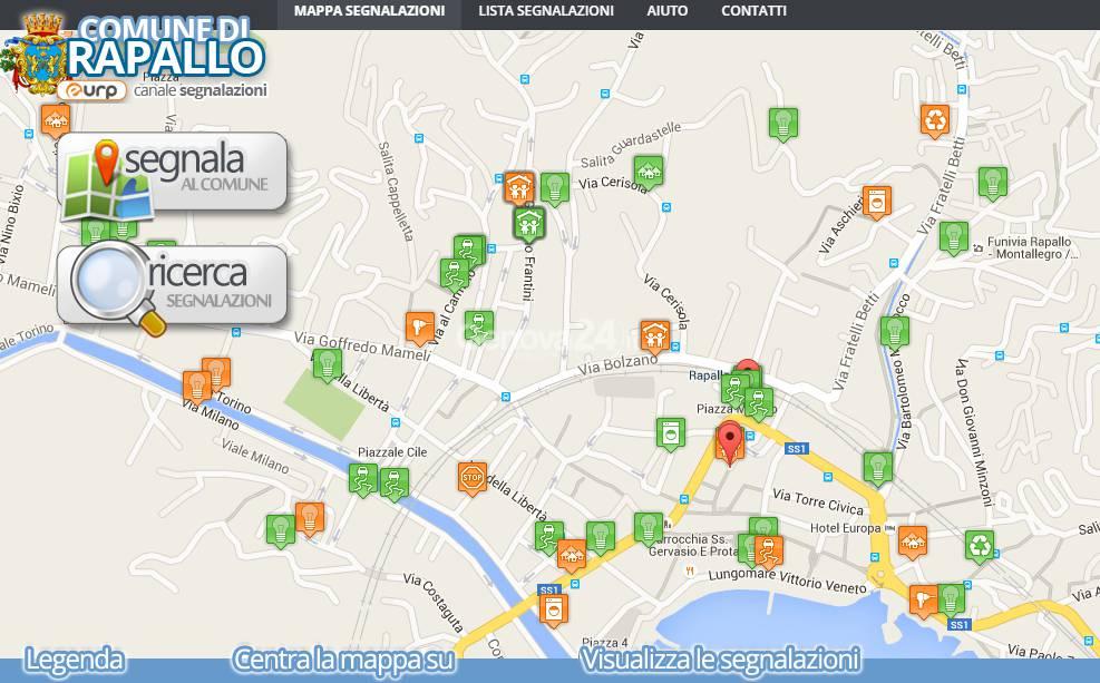 E-Urp, piattaforma per le segnalazioni a Rapallo