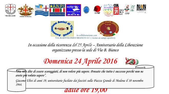 Festa di Liberazione con gli Amici di via Napoli
