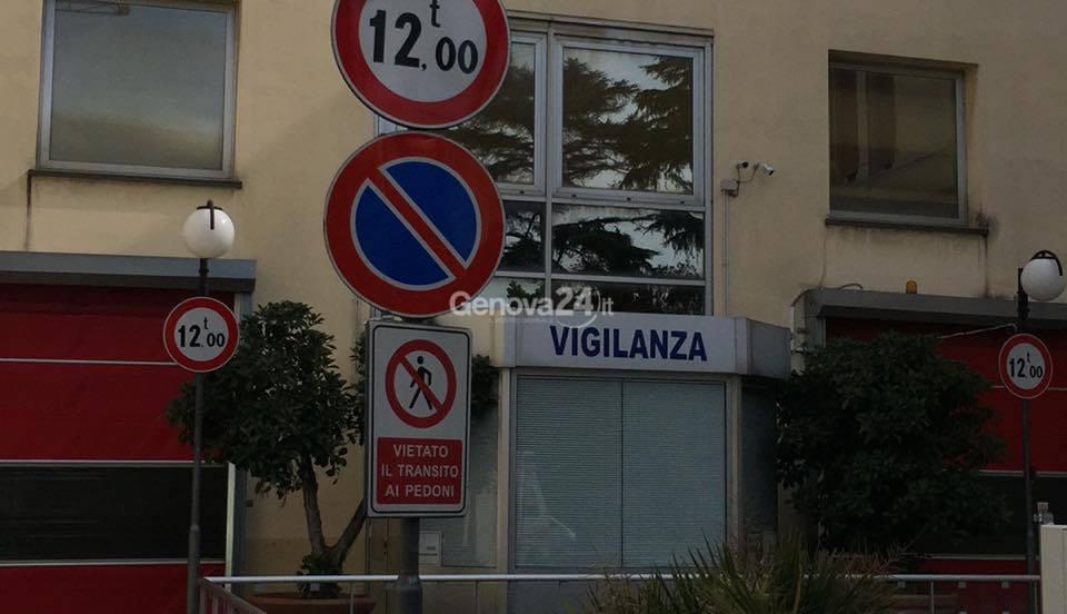 Ospedale villa Scassi, vigilanza