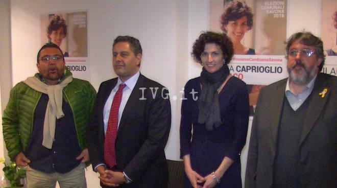 Savona 2016, inaugurato il point elettorale di Ilaria Caprioglio
