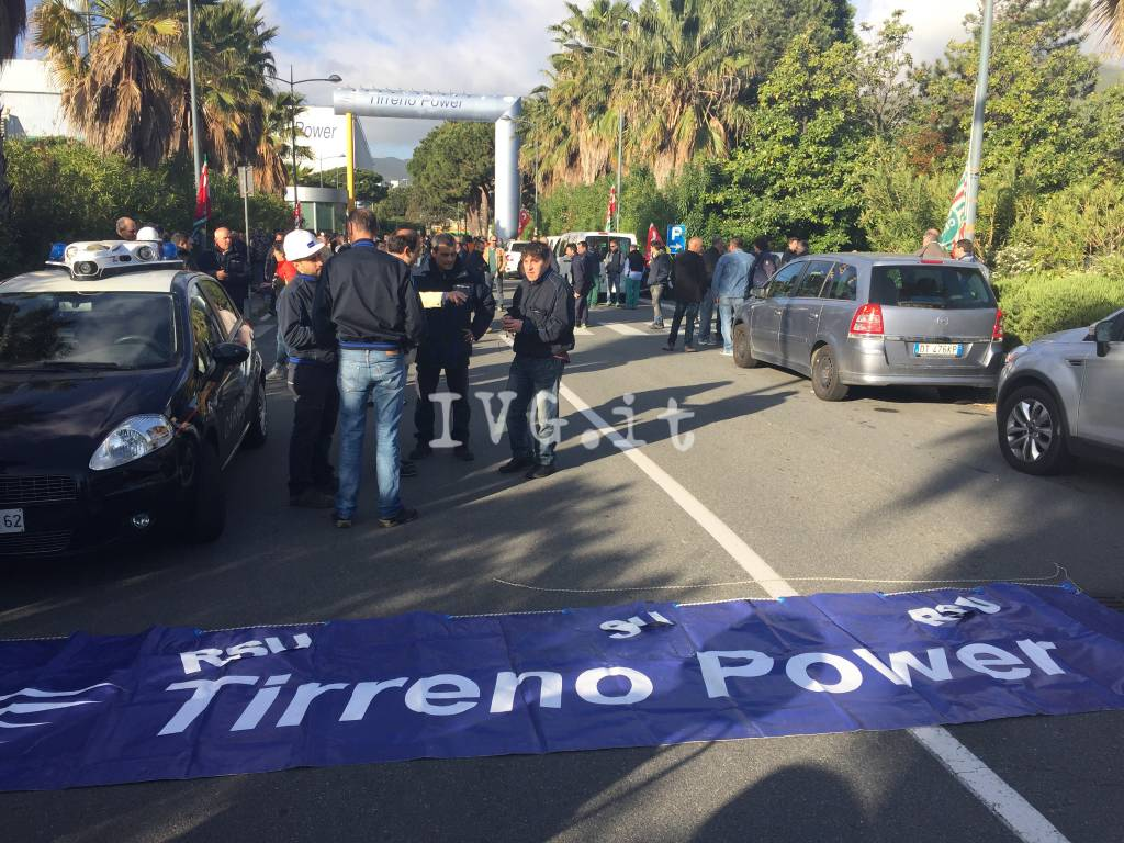 Sciopero Tirreno power