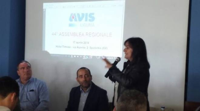 Sonia Viale Assemblea Avis Spotorno