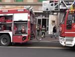 Vigili del fuoco in via Cantore