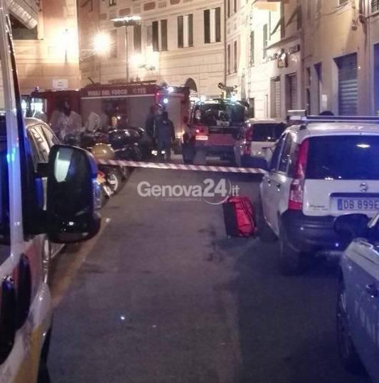 Vigili del fuoco in via Mameli a Rapallo