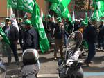 Agricoltori liguri in piazza a Roma