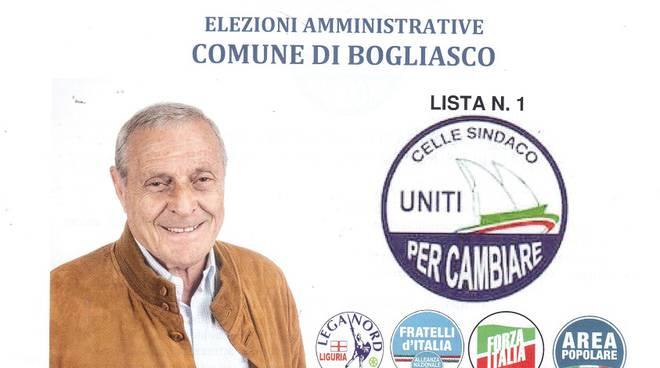 Angelo Paolo Celle, candidato sindaco del Centrodestra a Bogliasco