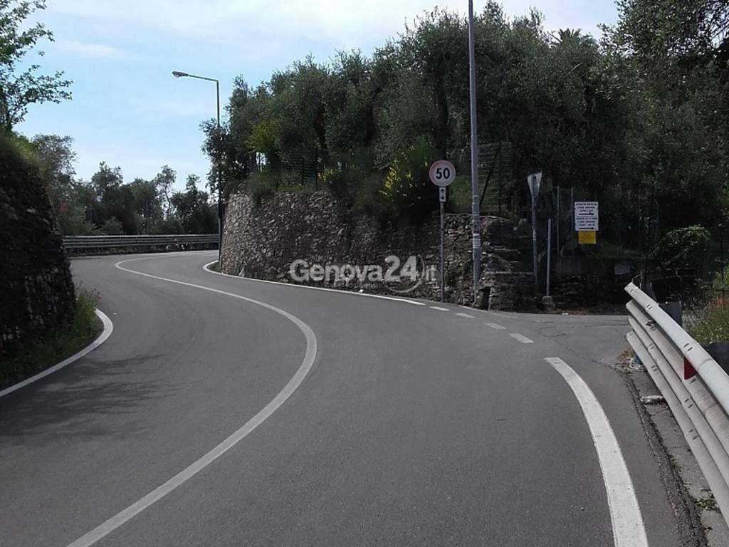 Curve di Bacezza sull'Aurelia a Chiavari