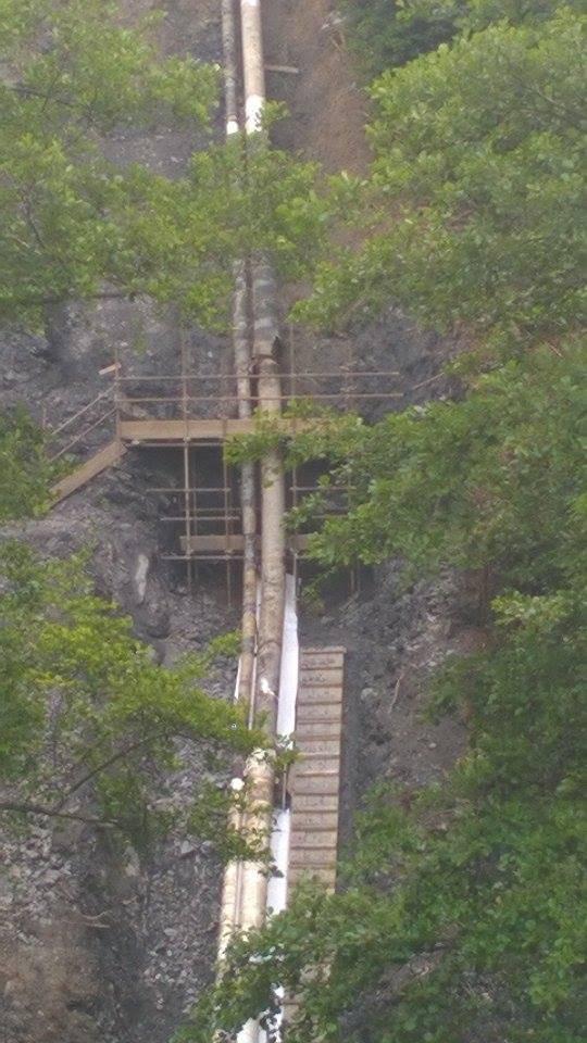Fegino, il taglio del tubo e la situazione del rio Pianego