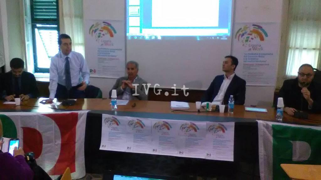 Finale, in Sala Gallesio un convegno del Pd su sviluppo e lavoro con Filippo Taddei