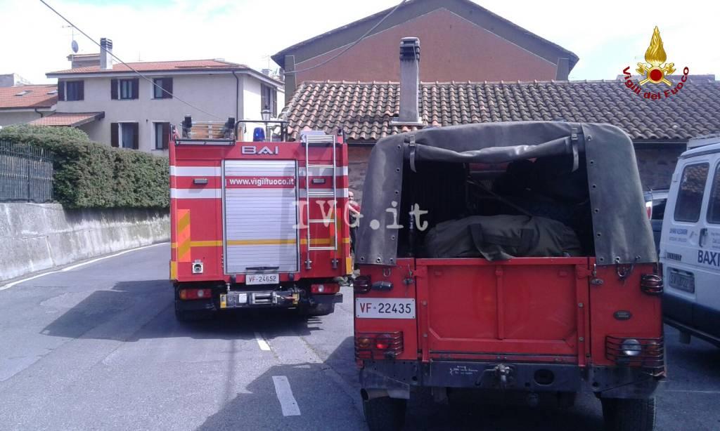Incendio in un appartamento a Capochiesa