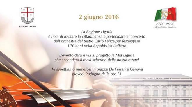 Invito al concerto del 2 giugno